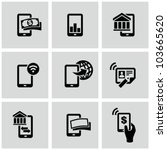 mobile banking icons set. pay... | Shutterstock .eps vector #103665620
