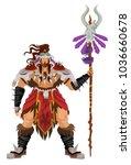 wild shaman character | Shutterstock .eps vector #1036660678