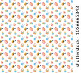 easter pattern bright colored | Shutterstock . vector #1036665343
