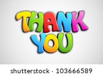 Illustration Of Colorful Thank...