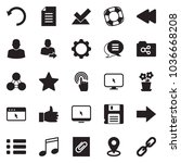 solid black vector icon set  ... | Shutterstock .eps vector #1036668208