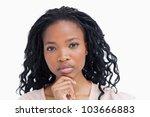 a head shot of a woman staring... | Shutterstock . vector #103666883