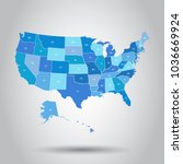 usa map icon. business... | Shutterstock .eps vector #1036669924