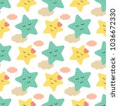 children's seamless pattern in... | Shutterstock .eps vector #1036672330
