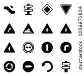 solid vector icon set  ... | Shutterstock .eps vector #1036672834