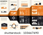 detail infographics set. world... | Shutterstock .eps vector #103667690