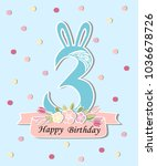 vector illustration with number ... | Shutterstock .eps vector #1036678726