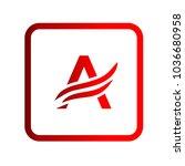 logo letter a | Shutterstock .eps vector #1036680958