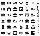 flat vector icon set  ... | Shutterstock .eps vector #1036687519