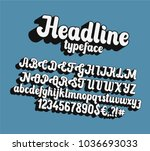 headline lettering font.... | Shutterstock .eps vector #1036693033