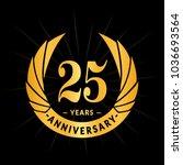 25 years anniversary. elegant... | Shutterstock .eps vector #1036693564