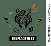 typography slogan with tiger...   Shutterstock .eps vector #1036694134