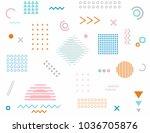 sunlight on the ocean. hipster... | Shutterstock .eps vector #1036705876