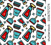 seamless pattern of... | Shutterstock . vector #1036707274