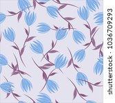 seamless background. flowers.  | Shutterstock . vector #1036709293