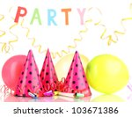 party items isolated on white   Shutterstock . vector #103671386