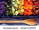Baked rainbow vegetables...
