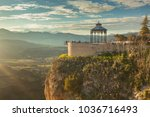 famous viewpoint in ronda ... | Shutterstock . vector #1036716493