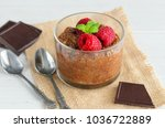 delicious  chia chocolate... | Shutterstock . vector #1036722889
