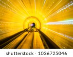 abstract blurred view from a... | Shutterstock . vector #1036725046
