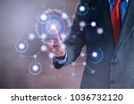 businessman working on a... | Shutterstock . vector #1036732120