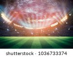 lights at night and stadium 3d... | Shutterstock . vector #1036733374