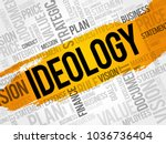 ideology word cloud collage ... | Shutterstock . vector #1036736404