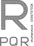 """the letter """"r"""" made up of...   Shutterstock .eps vector #1036737328"""