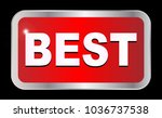 a large best red button over a...   Shutterstock . vector #1036737538