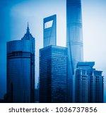 shanghai landmarks complex... | Shutterstock . vector #1036737856