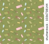 vector seamless pattern....   Shutterstock .eps vector #1036738144