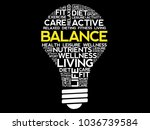 balance bulb word cloud collage ... | Shutterstock . vector #1036739584