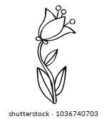 flower  for kids  book coloring  | Shutterstock .eps vector #1036740703