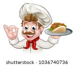 a cartoon chef character... | Shutterstock .eps vector #1036740736