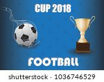 football cup 2018 isolated on...