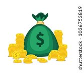 financial growth concept with... | Shutterstock .eps vector #1036753819