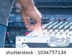 sound technician and lights... | Shutterstock . vector #1036757134