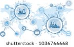 smart factory   digitalization... | Shutterstock .eps vector #1036766668