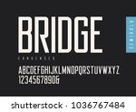 condensed semibold retro sans... | Shutterstock .eps vector #1036767484