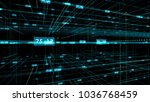 blue and green network grid and ...   Shutterstock . vector #1036768459