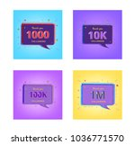 thank you followers banners.... | Shutterstock .eps vector #1036771570