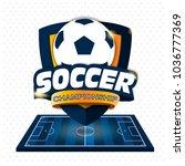 soccer logo. logo sports.... | Shutterstock .eps vector #1036777369