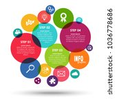bubbles info graphic for... | Shutterstock .eps vector #1036778686