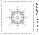 cross stich pattern in flat... | Shutterstock .eps vector #1036778950