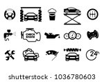 car part set of repair icon... | Shutterstock .eps vector #1036780603