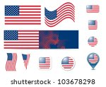 united states of america flag... | Shutterstock .eps vector #103678298