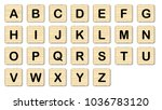 the complete set of letters in...   Shutterstock . vector #1036783120