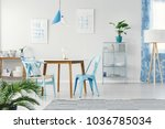 spacious  bright dining room... | Shutterstock . vector #1036785034