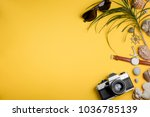 camera  sunglasses and watches... | Shutterstock . vector #1036785139
