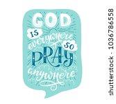 vector religions lettering  ... | Shutterstock .eps vector #1036786558